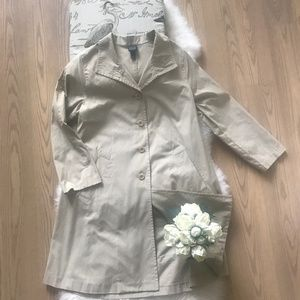 Eileen Fisher Khaki Trench Coat Sz M